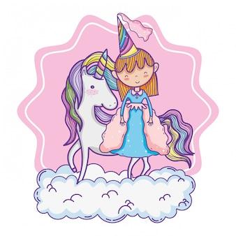Dessin animé mignon princesse magique