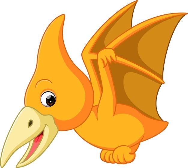 Dessin animé mignon ptérodactyle