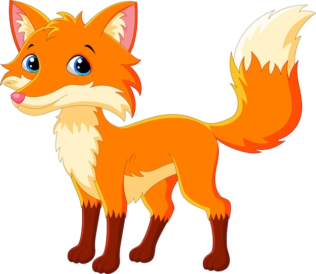 Dessin animé mignon renard
