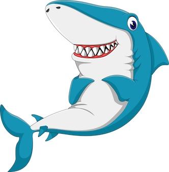 Dessin animé mignon de requin