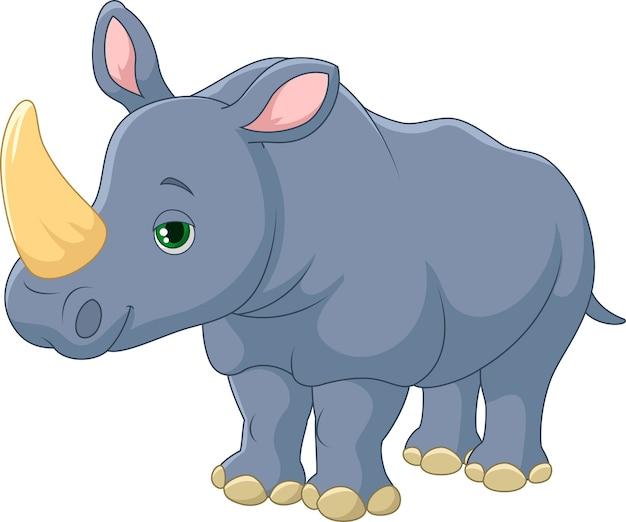 Dessin animé mignon de rhinocéros