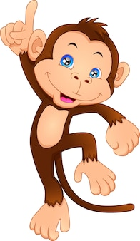 Dessin animé mignon de singe