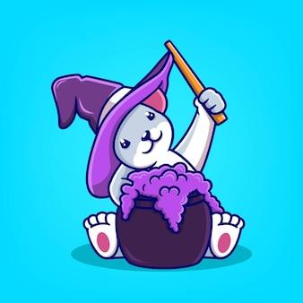 Dessin animé mignon de souris avec illustration vectorielle élément halloween