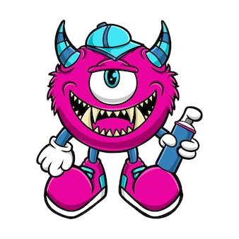 Dessin animé monstre graffiti