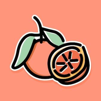 Dessin animé orange