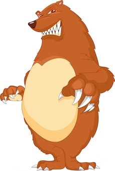 Dessin animé ours en colère