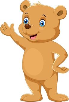 Dessin animé ours heureux