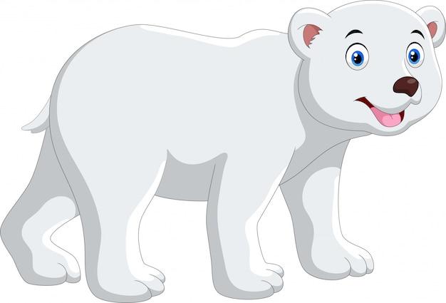 Dessin animé ours polaire