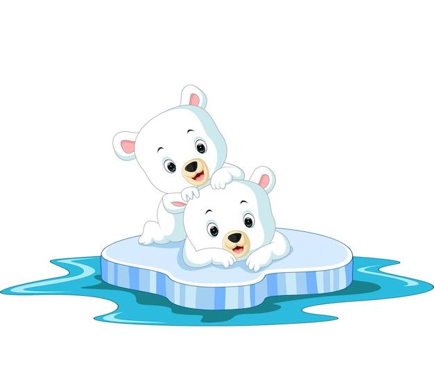 Dessin animé d'ours polaire