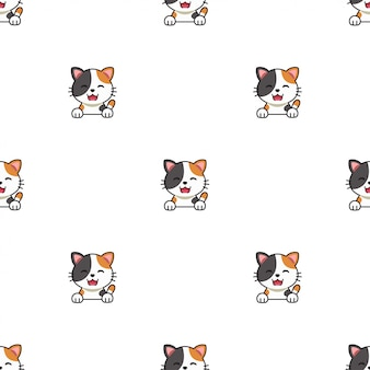 Dessin animé personnage chat sans soudure de fond