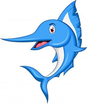 Dessin animé de poisson marlin