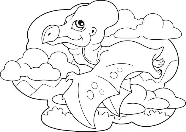 Dessin animé ptérodactyle