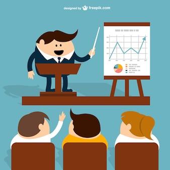 Dessin animé de réunion d'affaires