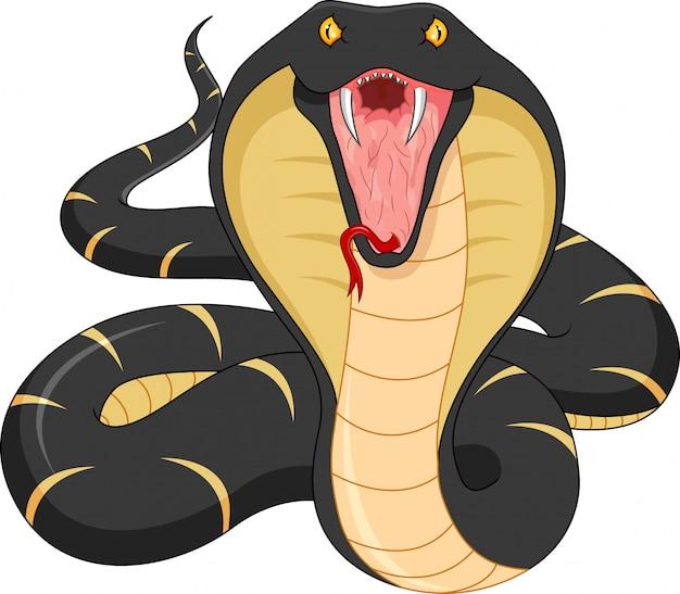 Dessin animé de serpent en colère
