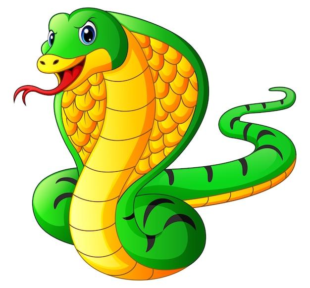 Dessin animé serpent mascotte cobra