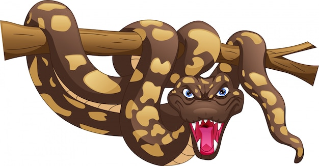 Dessin animé de serpent