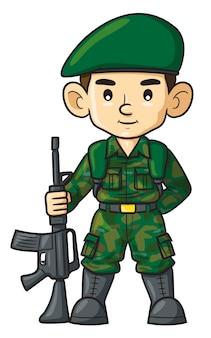 Dessin animé soldat