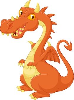 Dessin animé souriant dragon