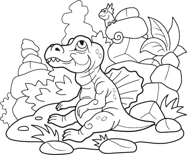 Dessin animé spinosaurus