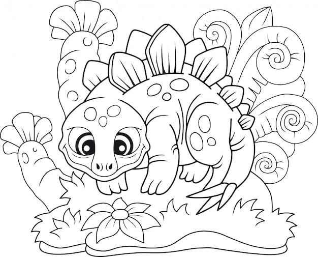 Dessin animé stegosaurus