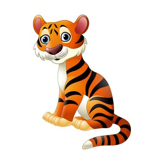 Dessin animé, tigre, séance