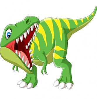 Dessin animé tyrannosaurus rex rugissant