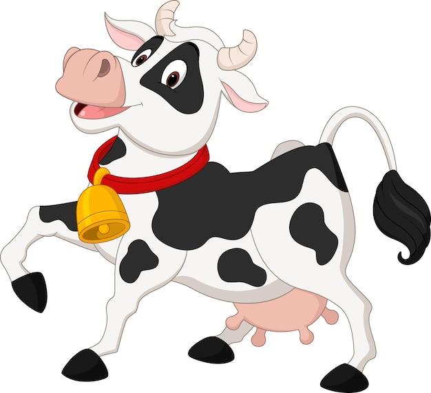 Dessin animé de vache heureuse