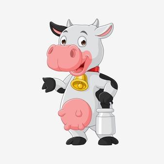 Dessin animé de vache, vecteur