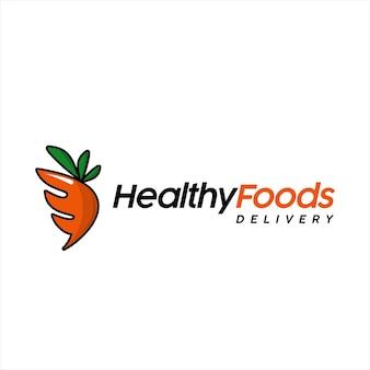 Dessin animé de vecteur végétalien logo d'aliments sains