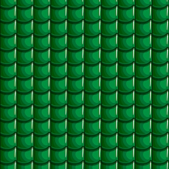 Dessin animé vert toit tuiles fond transparent