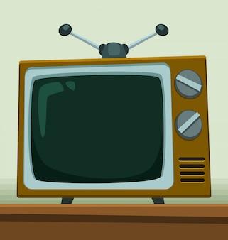 Dessin animé vieux modèle de télévision vintage rétro