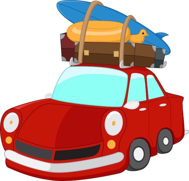 Dessin animé de voiture de voyage
