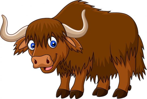 Dessin animé yak heureux