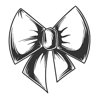 Dessin d'arc en noir et blanc, isolé sur fond blanc.