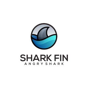Dessin au trait abstrait illustration logo requin