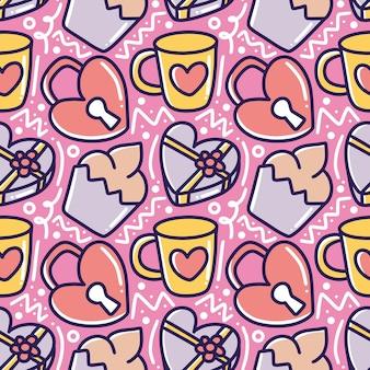 Dessin au trait art de la saint-valentin amour art dessin à la main