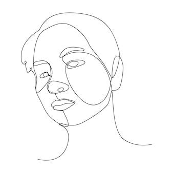 Un dessin au trait du visage d'un homme asiatique recherche des informations sur quelque chose avec un fond blanc. art du dessin au trait garçon.