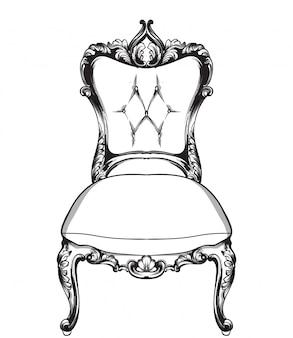 Dessin au trait de fauteuil classique