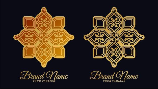 Dessin au trait logo ornement de luxe