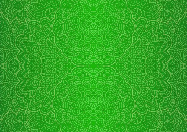 Dessin au trait avec un motif oriental sans soudure vert