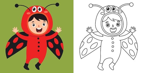 Dessin au trait pour les enfants à colorier