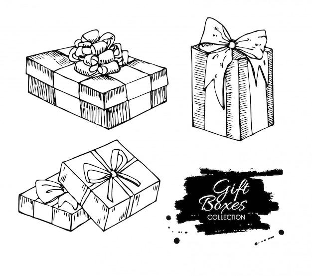 Dessin de boîte cadeau