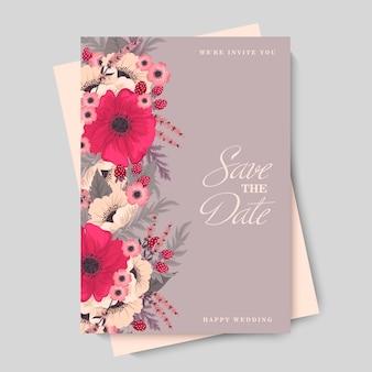 Dessin de bordure de fleur - fleur rose chaud