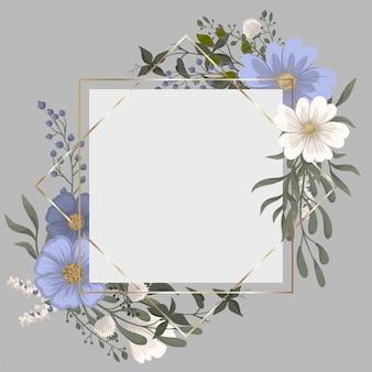 Dessin de bordure de fleur