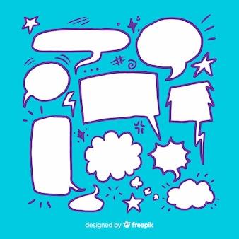 Dessin avec collection de bulles de discours vide