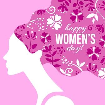 Dessin coloré avec le thème de la journée de la femme
