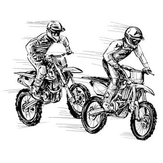 Dessin de la compétition moto