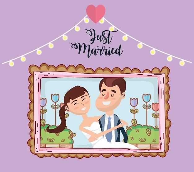 Dessin de conception de carte de mariage