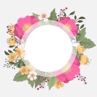 Dessin de couronnes de fleurs