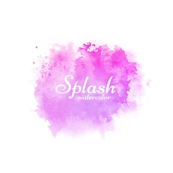 Dessin décoratif splash aquarelle rose